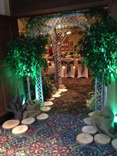 Entrance-Enchanted Forest Wedding by Designed Sealed and Delivered