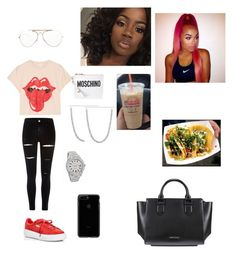"""""""Untitled #246"""" by faith-mula on Polyvore featuring River Island, Puma, CÉLINE, Moschino, Sanders, Kendall + Kylie and MadeWorn"""