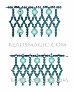 Free pattern for necklace Turquoise | Beads Magic