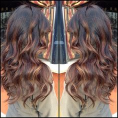 #ShareIG Dark brown base with light chocolate brown balayage highlights. Instagram photo by @beauty_by_briza