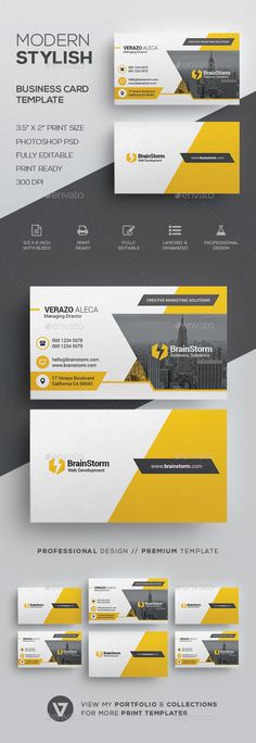 Creative Modern Business Card Template - Corporate Business Cards
