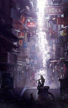 Cyberpunk Desktop Backgrounds of animation art Online painting futurism fi fi environment fiction art Cyberpunk Aesthetic, Cyberpunk City, Arte Cyberpunk, Futuristic City, Fantasy World, Fantasy Art, Sci Fi City, Graphisches Design, Matte Painting