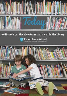 April is School Library Month. Don't forget to tell school librarians how much you appreciate the work they do and the adventures they make possible!  Find more ways to support teachers & students Today and every day at TodayInAZ.org. #TodayInAZ #ReadOnAZ