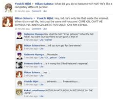What if Gakuen Alice have Facebook