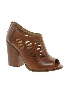 ASOS TEXAS Leather Shoe Boots