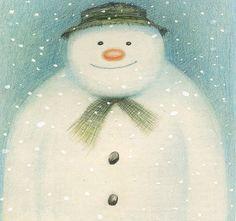 Raymond Briggs - the snowman art illustration colored pencil