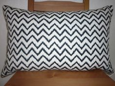 Handmade cushion cover 16x24 Inch Black and White by LizziCamilla, £13.50
