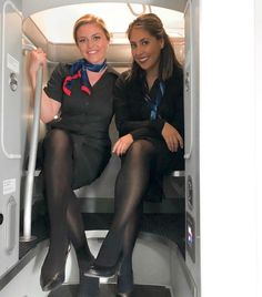 stewardess - Flugmädels - Women in Uniform Pantyhose Outfits, Nylons And Pantyhose, Flight Attendant Hot, Air Hostess Uniform, Flight Girls, Women With Beautiful Legs, Costume, Classy Women, Minimalist Movie Posters