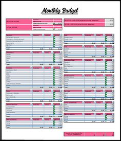 Budget Spreadsheet  Budgeting Budget Template And Monthly Budget