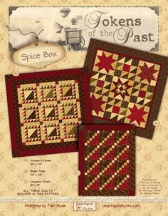 Tokens of the Past: Spice Box. New pattern by Pam Buda of Heartspun Quilts!