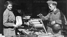 German soldiers in bakery in Norway during