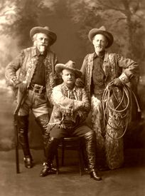William F. Cody, Pawnee Bill, & Buffalo Jones, around   1910.