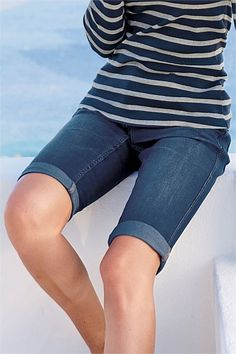 So hard to find modest shorts for women. I'd say that a pair of denim knee length shorts are just about essential!