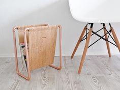 eve & adis HOME EDITION // Magazin / Laptophalter (Kupfer und Kork)