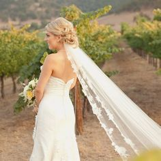 ... about Wedding Hair on Pinterest | Veils, Cathedral veils and Updo