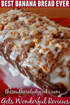 Best Banana Bread Ever - - - Dessert Bread Recipes Bread Machine Recipes, Easy Bread Recipes, Banana Bread Recipes, Sweet Recipes, Banana Dessert Recipes, Quick Bread, Recipes With Bananas, Homemade Banana Bread, Banana Bread Recipe With Pudding