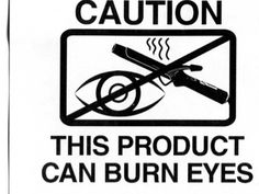 curling iron warning