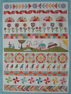 The Piper's Girls Row by Row Quilt Such a fun, happy quilt!