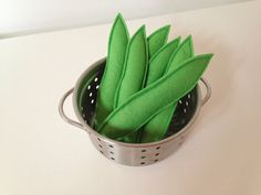 Pretend Play Felt Food Vegetable Runner Beans by mummymadeitme