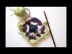 How to crochet a granny square. Video tutorial.
