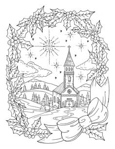 Christmas Coloring Page Instant Download Adult Christian PagesColouring PagesFree