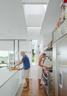Modern kitchen with a Corian countertop
