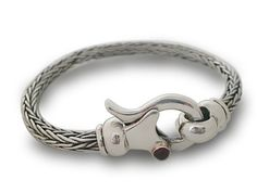 Unisex Bracelet Braided Sterling Silver for Men and by cremerdani, $735.00