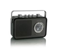 Uno2go black RADIO FM DA TAVOLO/PORTABLE.