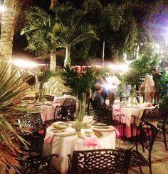 Lovely lush tropical event at Aqua Bistro St John USVI @islandblissweddings #stjohnwedding