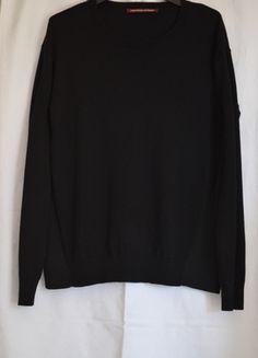 Pull noir Comptoir des Cotonniers manches longues encolure ronde coton cachemire…