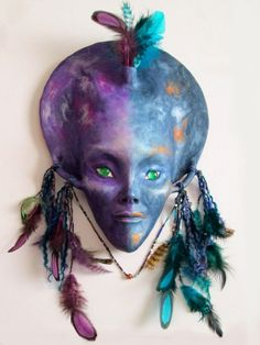 Galactic Goddess Wall Sculpture by JanePriserArts on Etsy