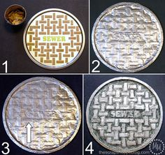 The Scrap Shoppe: DIY $1 Manhole Cover teenage Mutant Ninja Turtles.