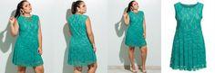 Vestido Renda Plus Size Verde