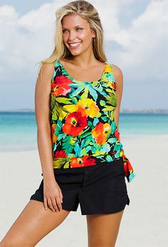 c8ac05a339 Beach Belle Botany Bay Plus Size Blouson Cargo Shortini Botany Bay,  Swimsuits For All,