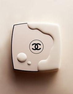 chanel make up compact cosmetics cream still life