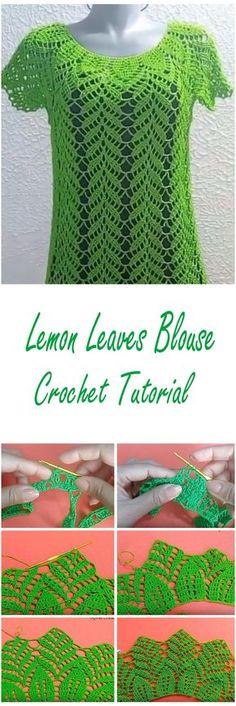 Crochet Lemon Leaves Blouse Tutorial