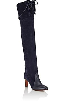 Chloé Suede & Leather Over-The-Knee Boots - Boots - 504626950