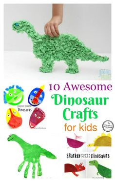 10 Awesome Dinosaur Crafts for Kids - So fun!