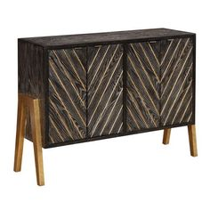 Grey and Gold Four Door Sideboard