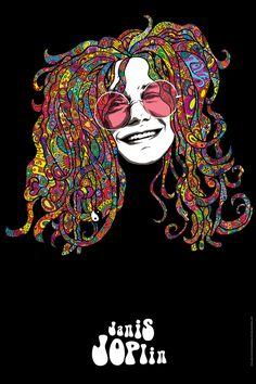 68 Ideas Music Concert Poster Janis Joplin For 2019 Janis Joplin Style, Woodstock, Art Hippie, Hippie Peace, Rock Band Posters, Andy Biersack, Arte Pop, Psychedelic Art, Art Music