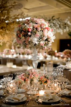 Beautiful pink and white flowers. #pinkandwhitewedding