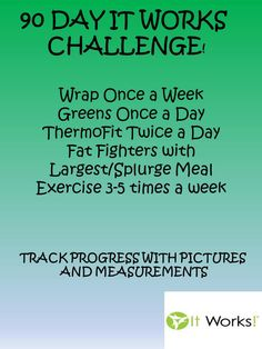 Join our 90 Day It Works challenge! click on the pin to order today with a 40% discount. find me on facebook - www.facebook.com/megjacobsondistributor