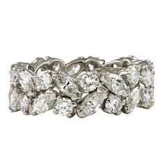TIFFANY Diamond Eternity Band | From a unique collection of vintage bridal rings at http://www.1stdibs.com/jewelry/rings/bridal-rings/