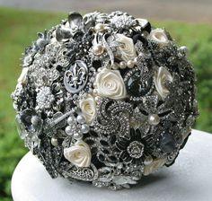 Dark October Wedding Colors Gray and Black