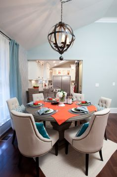 Sandy and Susy's Dining Room has the Savoy House Alsace pendant
