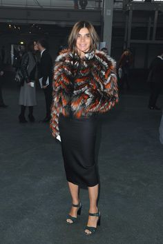 CARINE ROITFELD LOOKBOOK 1.17.14 at PFW Givenchy Menswear F/W 2014-2015 show