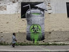 """Biohazard"" in Paris, France by Ludo. Phoot by Ludo."