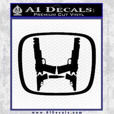 Honda Guns Logo Decal Sticker