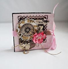 Kobiecy notesik – Notesy - kolor: kawowy, brązowy, lilla, wymiary: 10,5x10 cm – Artillo Notebooks, Scrapbooking, Bags, Handbags, Notebook, Scrapbooks, Memory Books, Scrapbook, Bag