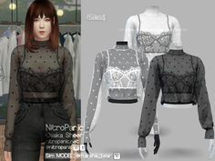 Osaka Sheer Tops for The Sims 4 The Sims 4 Pc, Packs The Sims 4, Sims Four, Sims 4 Mm, Sims 4 Mods Clothes, Sims 4 Clothing, Cc Top, Sims 4 Tattoos, The Sims 4 Cabelos